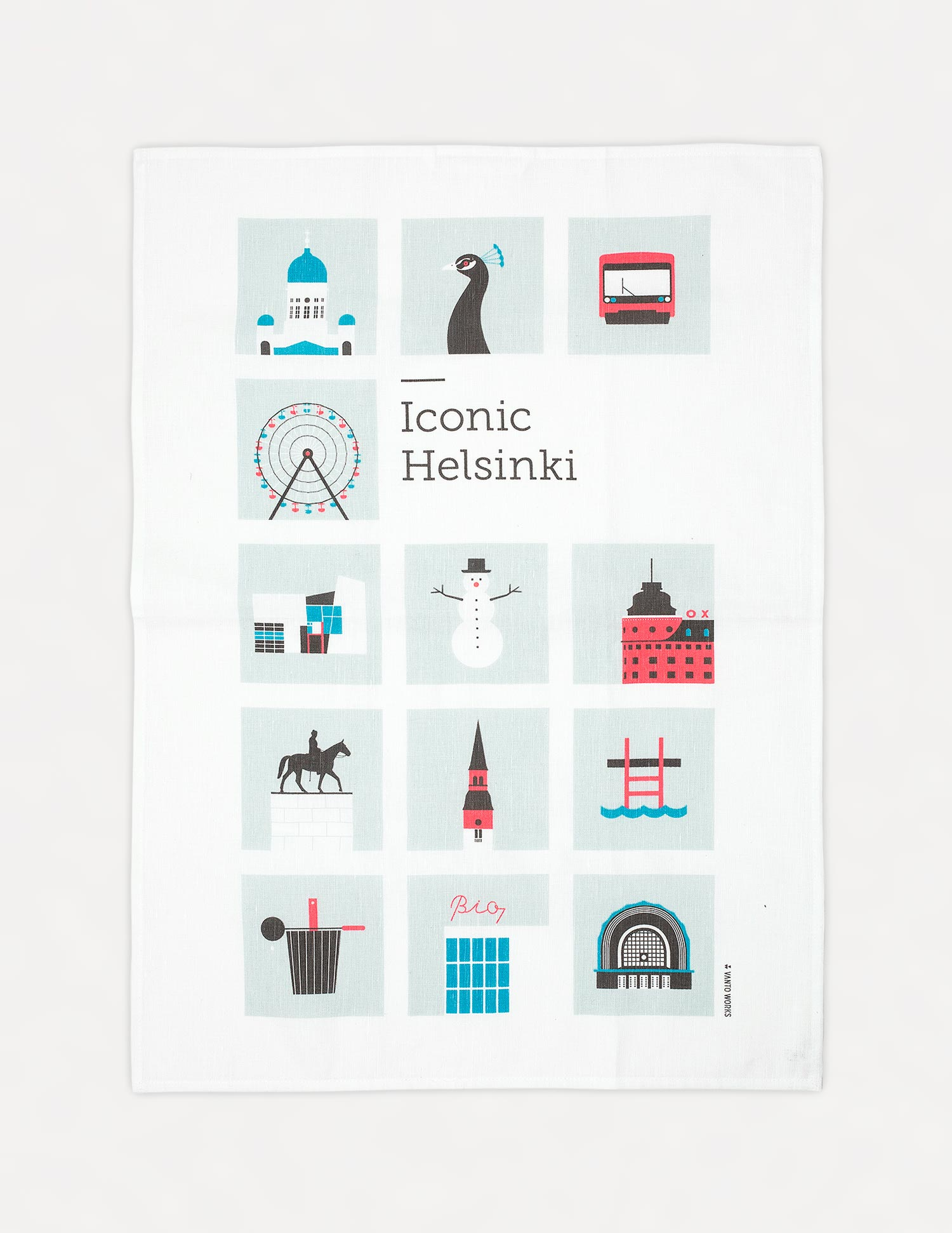 Iconic Helsinki kitchen towel